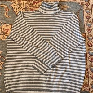 Lightweight Striped Turtleneck